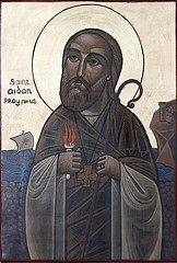 St Aidan painting