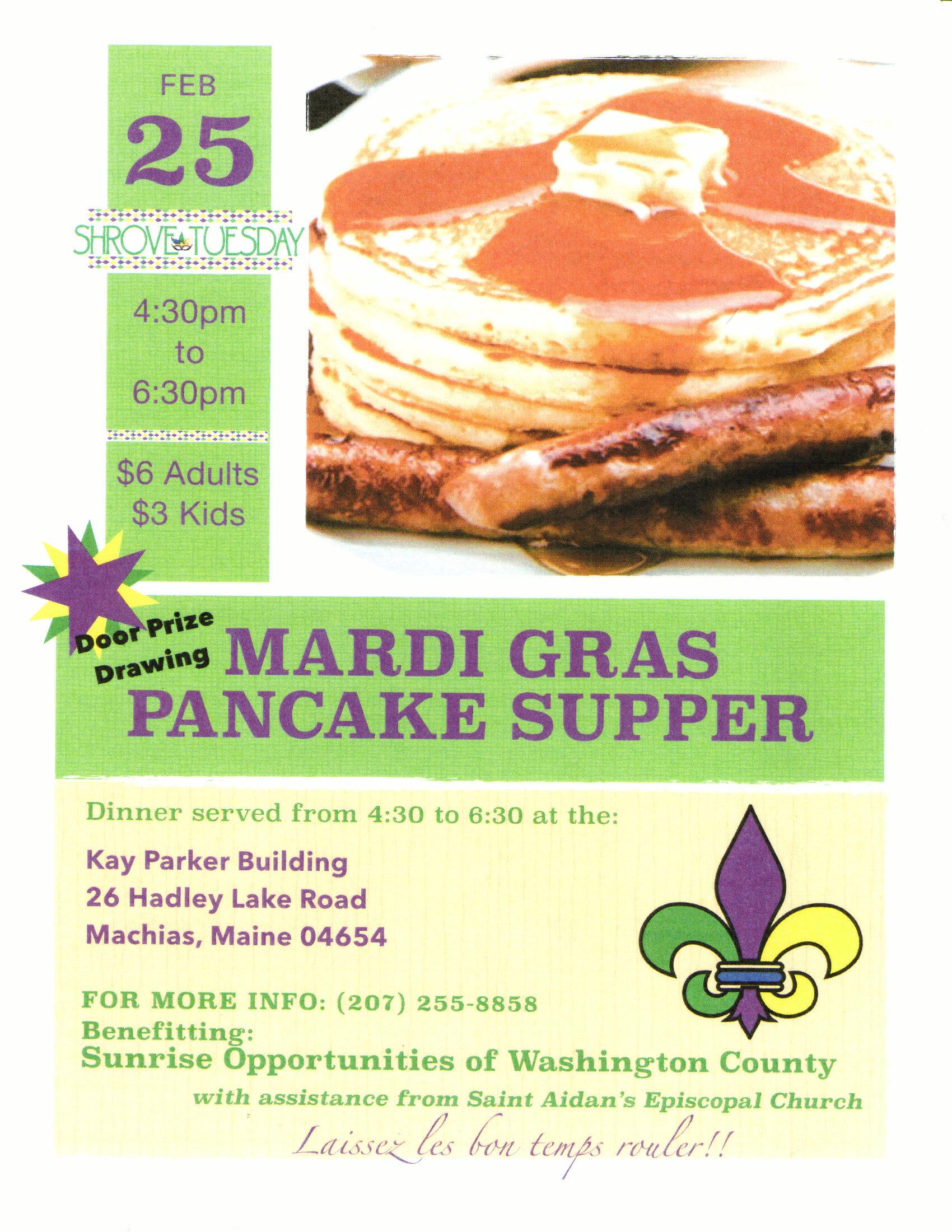 Pancake Dinner - February 25 2020